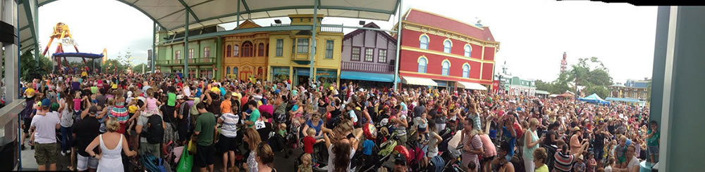 Festival Hire stage at Dreamworld Wiggles Day