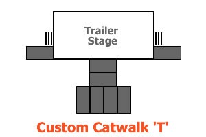 Custom catwalk hire Brisbane Festival Hire