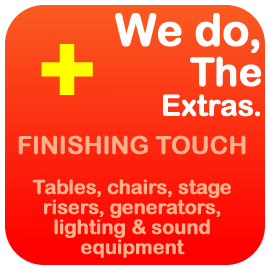 Event Hire extras - chair hire, table hire Brisbane