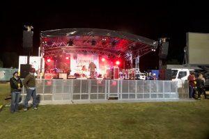 8m x 6m mobile Stage + crowd barrier_Festival Hire Service
