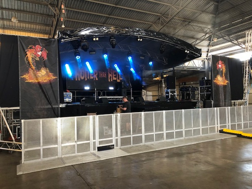 9m x 7m mobile Stage + Barrier_Festival Hire Service